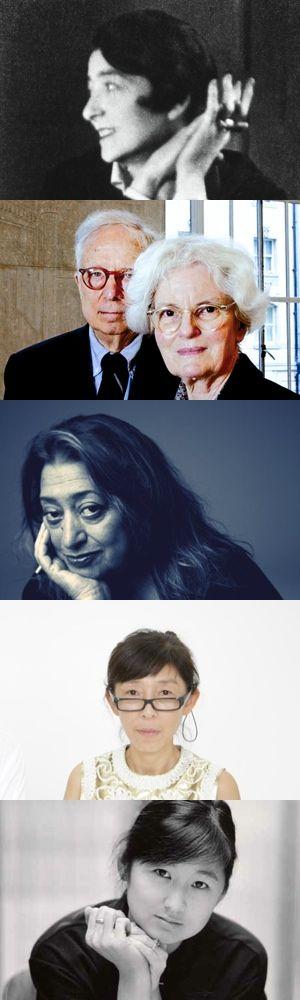 Eileen Gray, Denise Scott Brown, Zaha Hadid, Kazuyo Sejima, Maya Lin: Cinque grandi architetti donne.