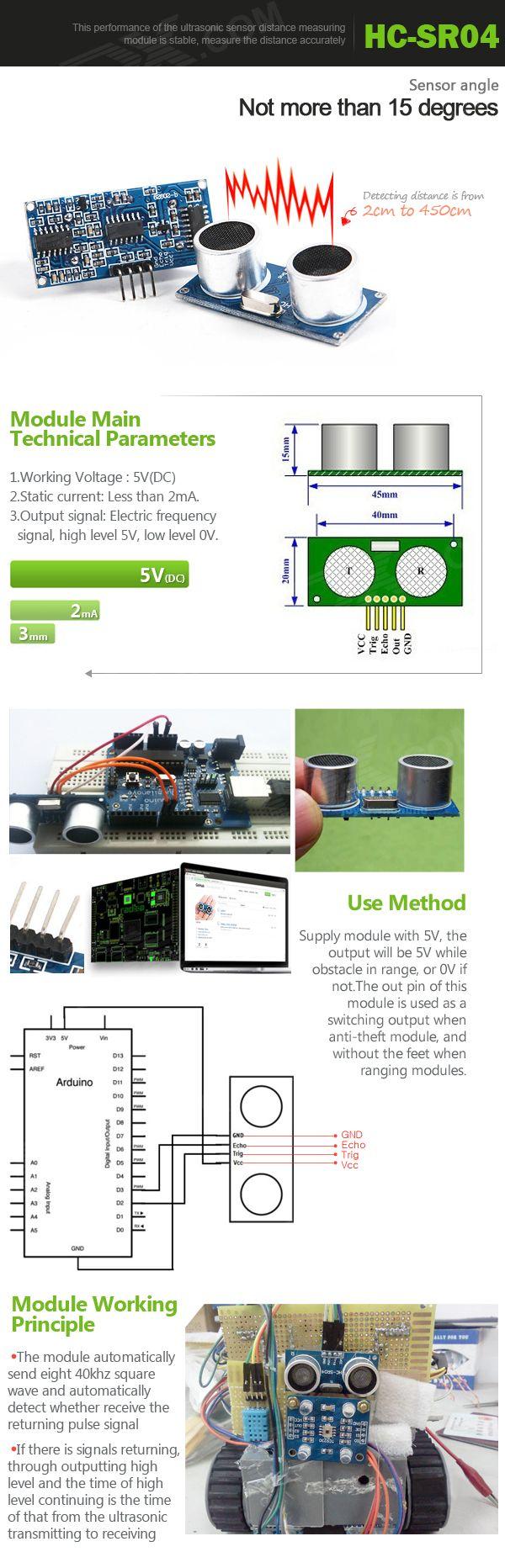HC-SR04 Ultrasonic Sensor Distance Measuring Module - Blue - Free Shipping - DealExtreme
