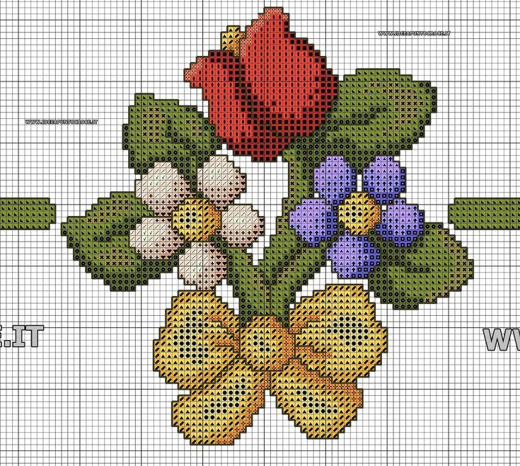 Best 25 flower frame ideas on pinterest flower lights for Schemi punto croce fiori e farfalle