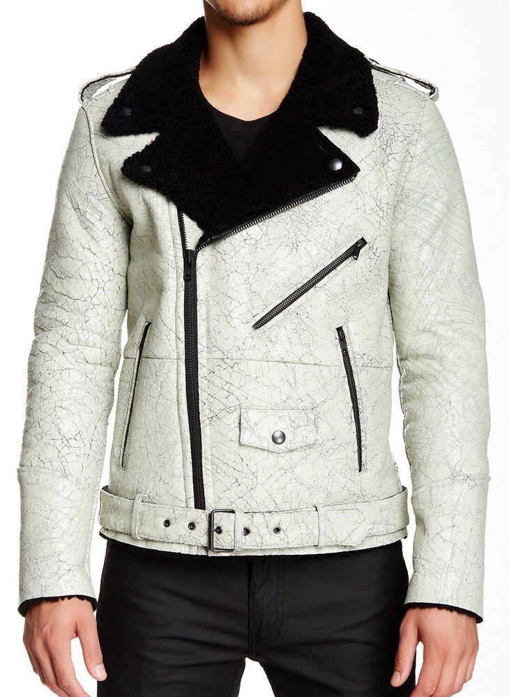 782afc51f eBay #Sponsored BLK DNM Men's Black/White Genuine Shearling Leather Jacket  Medium $2495 NWT