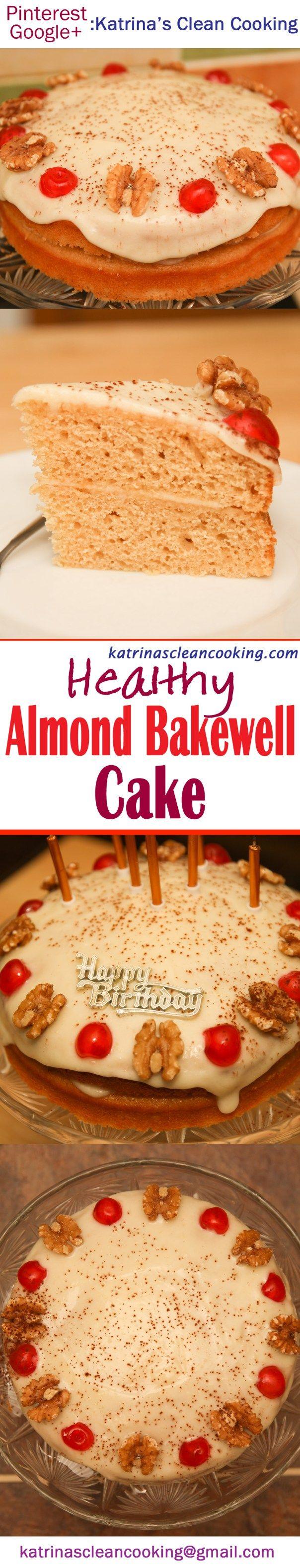 Healthy Almond Bakewell Cake #healthy #highprotein #glutenfree #refinedsugarfree