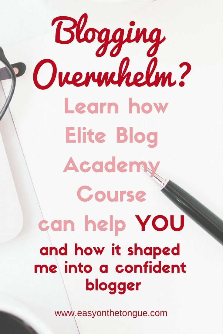 Is blogging just to overwhelming? Learn how Elite Blog Academy can help you. Click through to read how it shaped me into a better, organised and more confident blogger - httpeasyonthetongue.comsometimes-you-need-to-take-a-calculated-risk