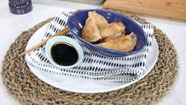 Store bought wonton wrappers take the guesswork out of this perfect appetizer