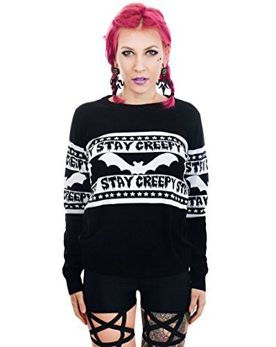 buy now   $47.99     (adsbygoogle = window.adsbygoogle || []).push();  You might be able to pull off wearing this spooky sweater to the office Ugly Christmas Sweater party , but we will all know the truth.. You are definitely gonna be the cutest ghoul there!Be creepy and be proud. Show...