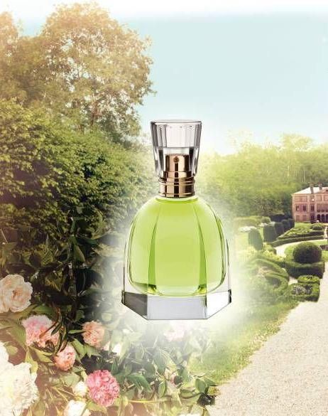 Lovely Garden Oriflame for women  milk, green notes, rhubarb heliotrope, orchid, sandalwood, musk pomegranate, peony