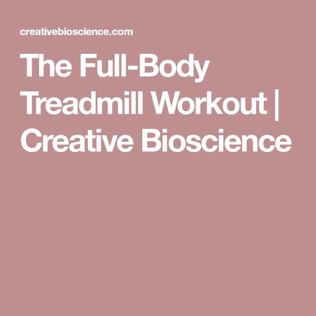 The Full-Body Treadmill Workout   Creative Bioscience