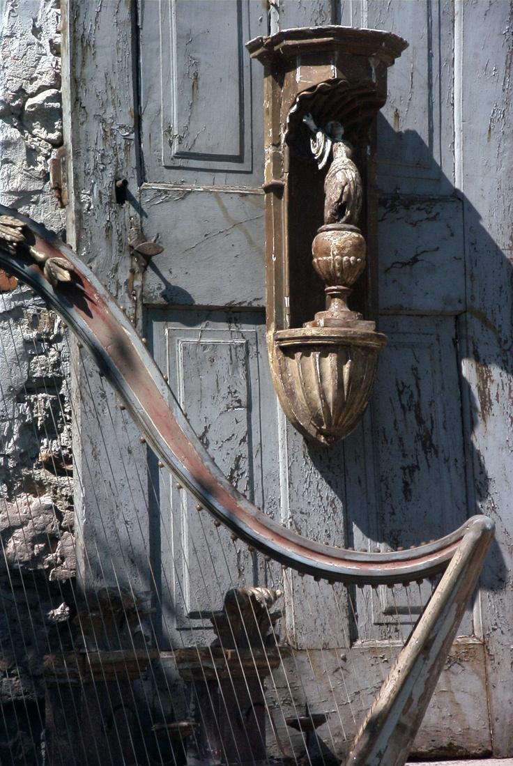 A Wood Decorative Harp, Old Door.... By Elise Valdorcia. Parisienne StyleDoor  HandlesDoor ...