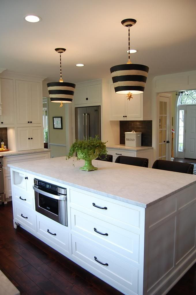 Kitchen Island With Hidden Paper Towel Holder Amp Microwave