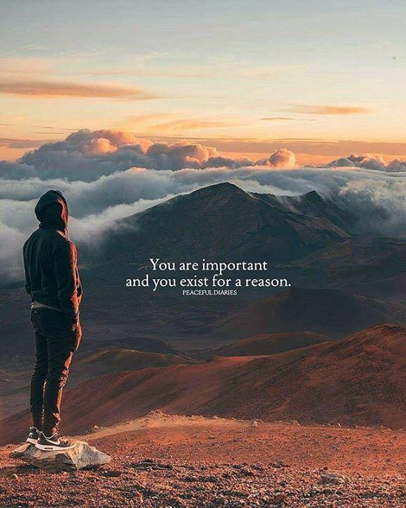 You are important..