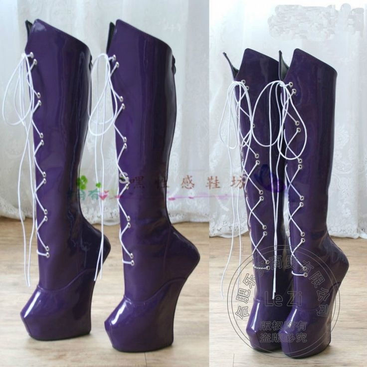 121.10$  Buy now - http://alizh7.worldwells.pw/go.php?t=32740084416 - Patent Leather Euro Style New Arrival Spring Autumn Lace Up Platform Sexy Purple Women Boots Fashion Strange Ultra High Heel 121.10$