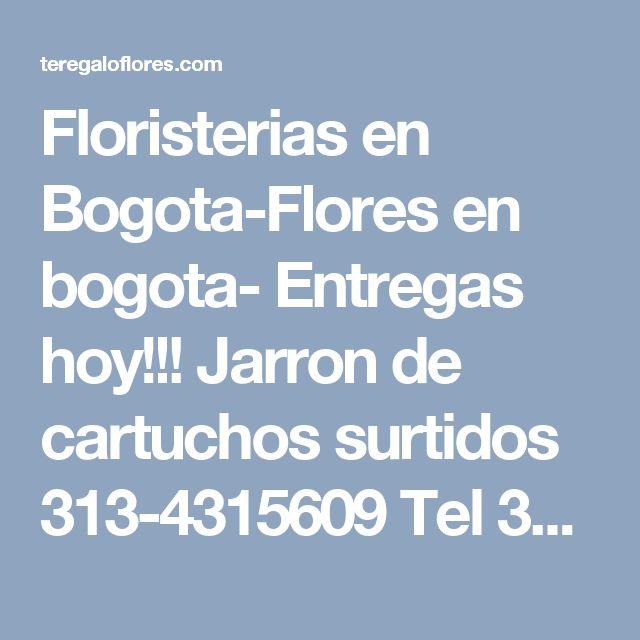 Floristerias en Bogota-Flores en bogota- Entregas hoy!!! Jarron de cartuchos surtidos 313-4315609 Tel 3134315609-Envio Flores a Domicilio