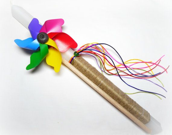 Pinwheel Greek Easter Candle Easter Lampada Orthodox by VessCrafts