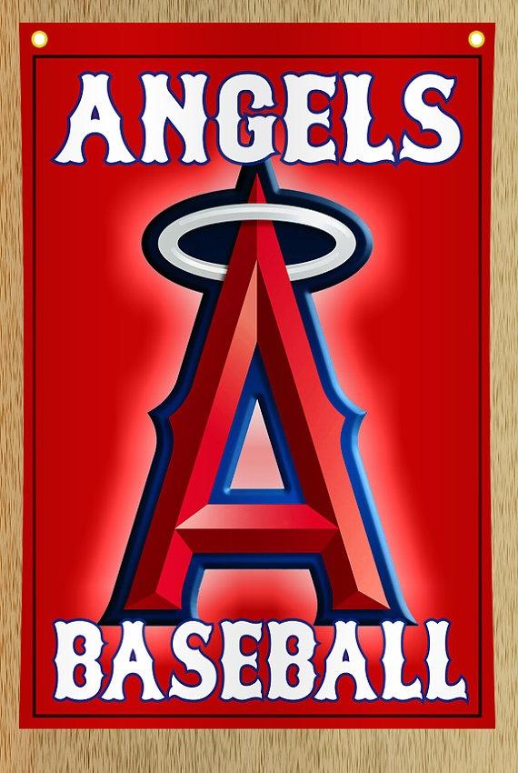 Angels Baseball House Flag by KindleKreative on Etsy, $25.00