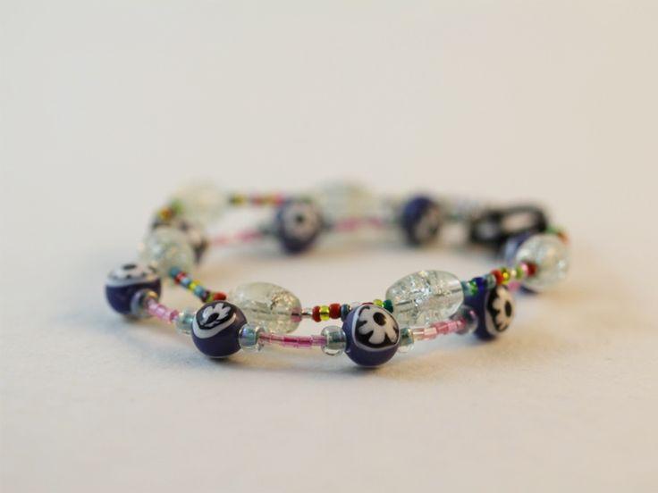 Double layer glass bead bracelet.