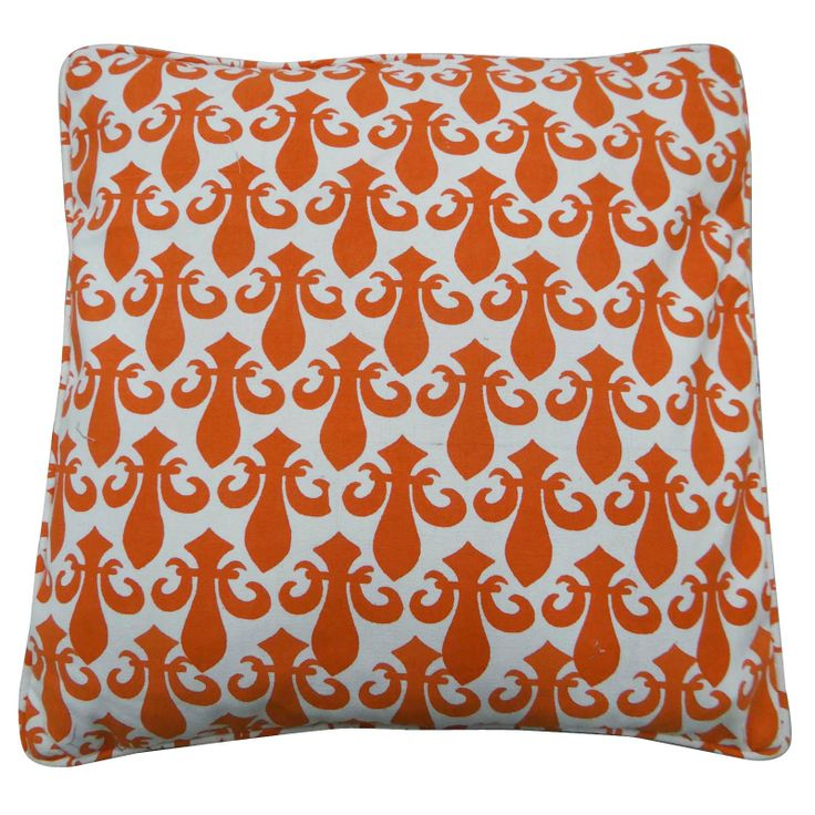 Beautiful Cotton Canvas fabric printed Cushion Cover / Pillow Case. ..this is img