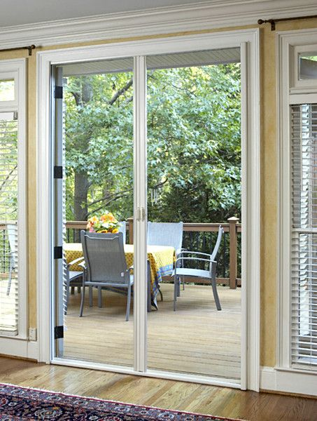Retractable Screen Door - Fly screens for French Doors 1800mm x 2100mm - White Color