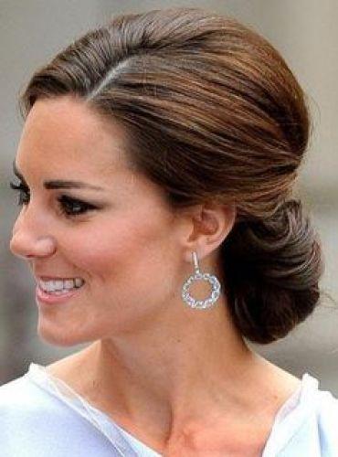 Kate Middleton Brunette Bridal Retro Updo Perfection The