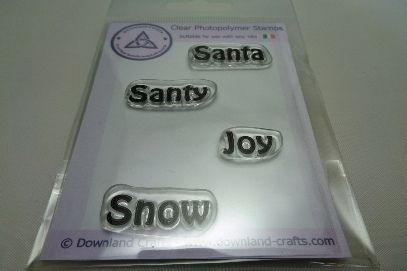 Festive Words Stamp