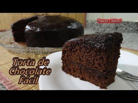 TORTA DE CHOCOLATE fácil y de licuadora - YouTube