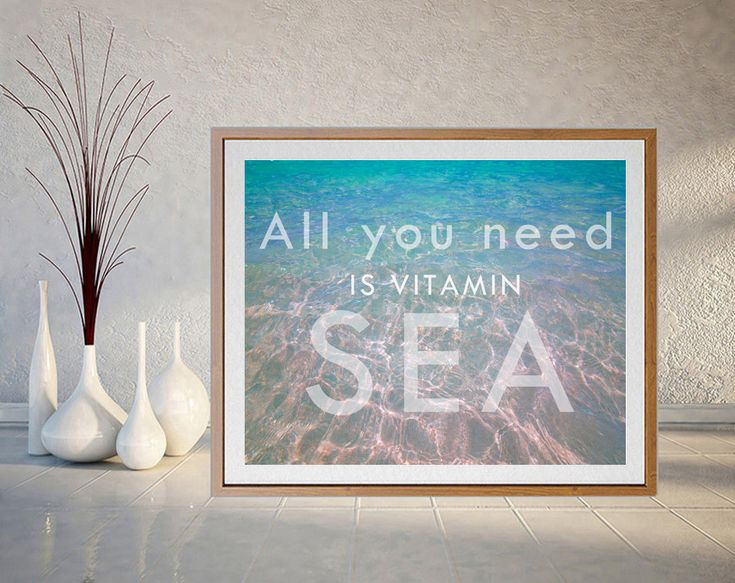 #Allyouneedisvitaminsea, #vitaminsea #Printable #WallArt #Water #Print #Beach #Coastal #Decor, #WaterPrintable, #WaterArt #BeachArt #CoastalArt #Turquoise #Wall #Art, #TurquoiseWaters, #Zen by #JuliaApostolova on #Etsy