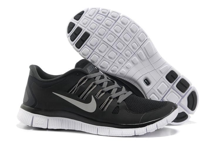 Nike Free 5.0 Black Grey Silver Women's Shoes . womens shoes cheap sale ,sport and fashion