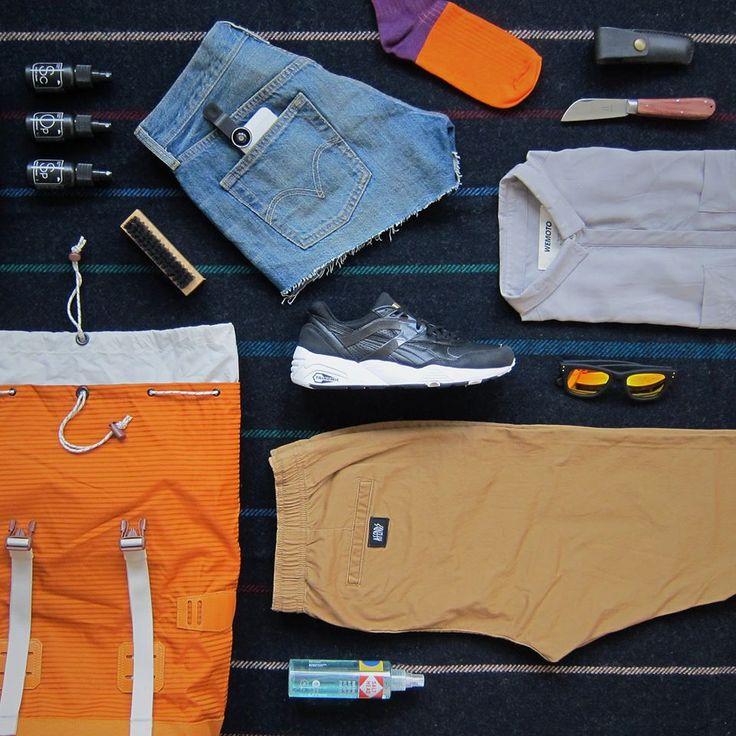 Outdoor guide. Batoh Burton, kraťasy Cheap Monday, košile Wemoto, boty Adidas Originals, ponožky HappySocks,kapesní nůž Otter Messer, péče o boty Sneakerlab. To vše najdete na www.freshlabels.cz