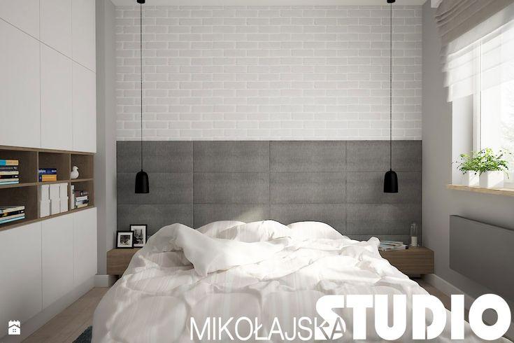 minimalistyczna sypialnia - zdjęcie od MIKOŁAJSKAstudio - Sypialnia - Styl Nowoczesny - MIKOŁAJSKAstudio