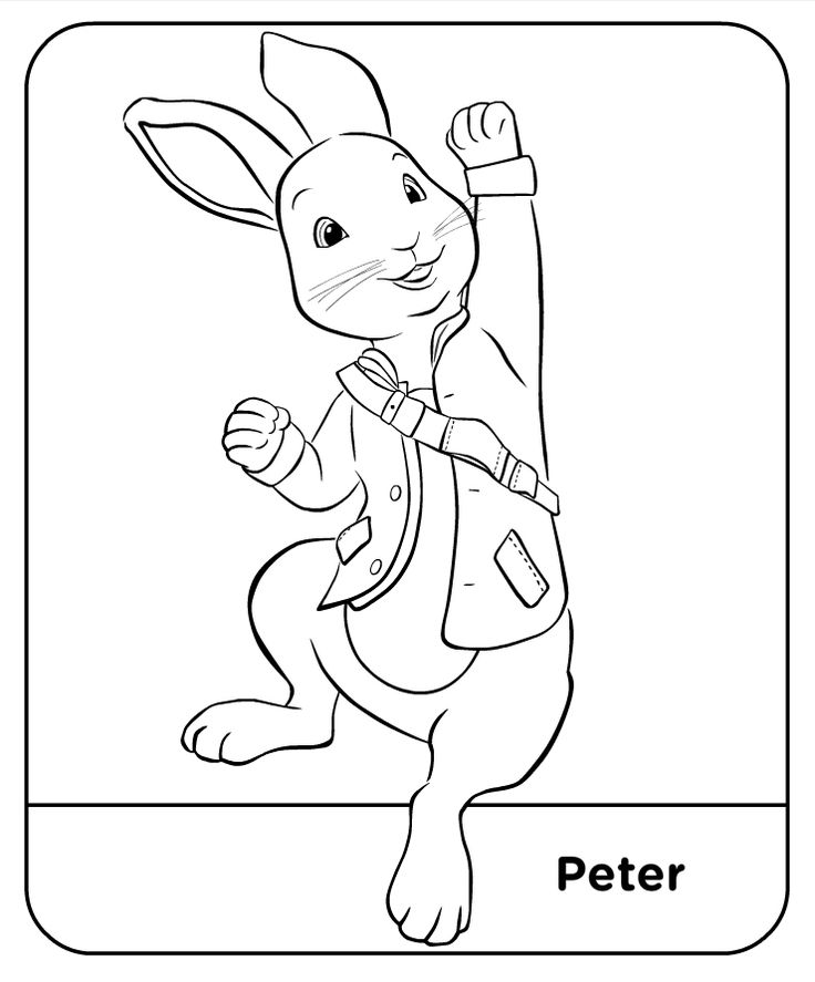 Coloring Pages Peter Rabbit | Rabbit colors, Peter rabbit ...