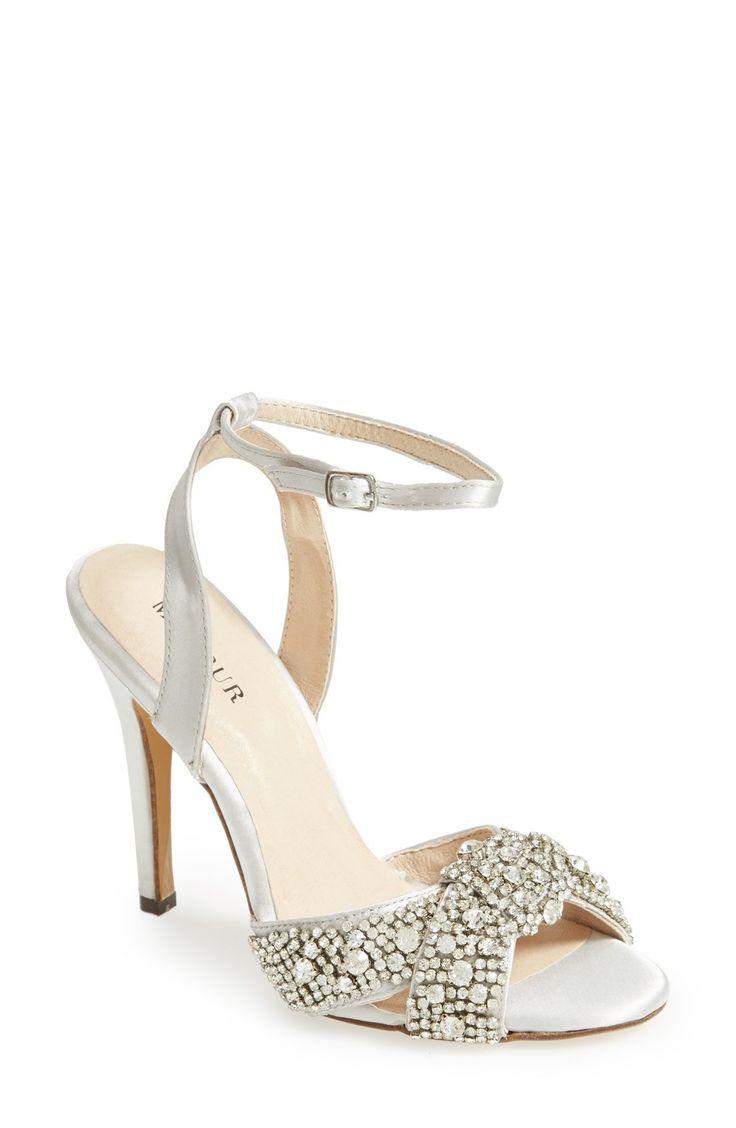 pearl gray crystal wedding shoes vera rhinestone pump