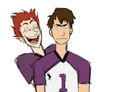 """losassen: """" The new season on Haikyuu is perfect, I'm loving it so much! Enjoy this silly gif Also Satori is A+++ """""""