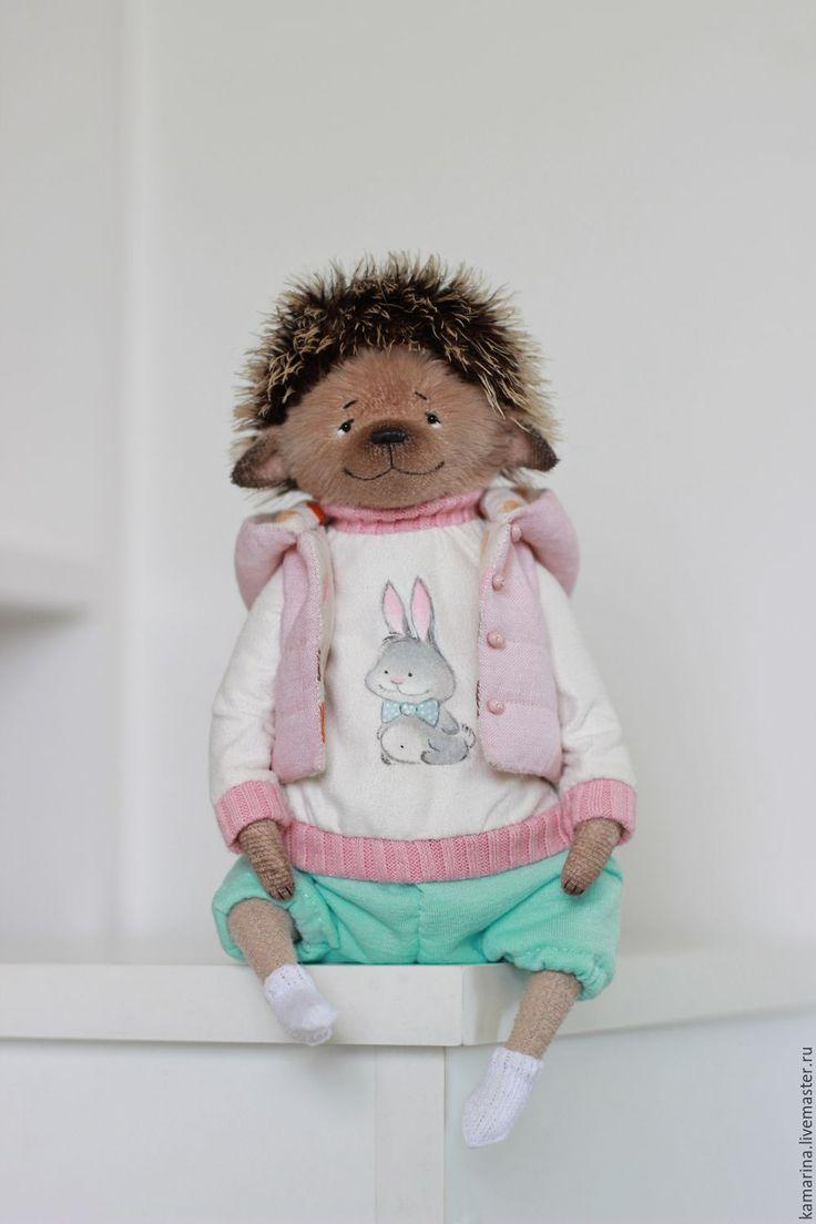 Купить Sweety - бледно-розовый, бирюзовый, ежик, ежик тедди, тедди ежик, мишка тедди