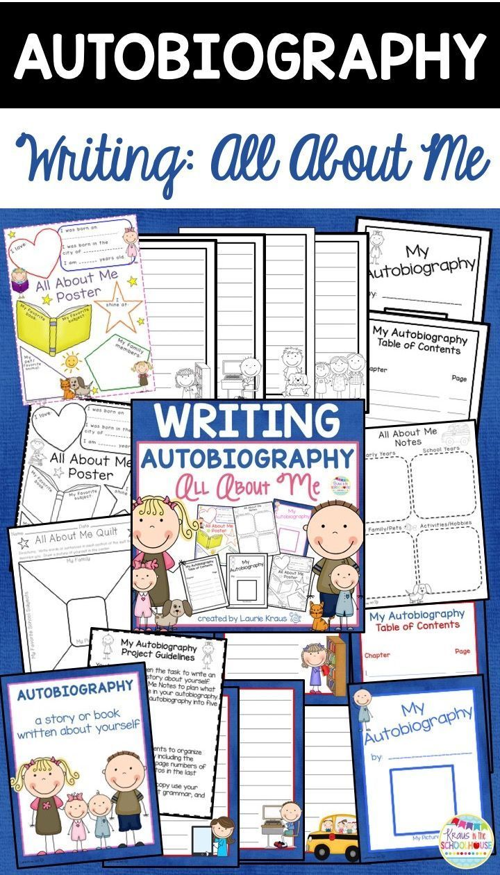 Are you teaching your students how to write an autobiography? Students will use this writing project to help them plan and write an autobiography. Graphic organizers and activities are included to help your students brainstorm ideas to include in their autobiography.