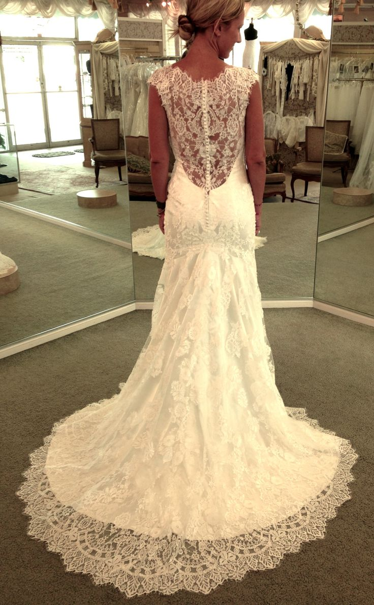 17 best images about beautiful beach wedding dresses on for Lace low back wedding dress