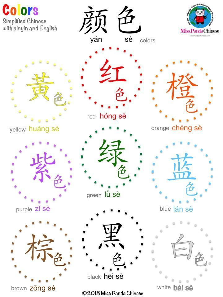 Chinese Colors Made Easy Learn Mandarin Colors Chinese Colors