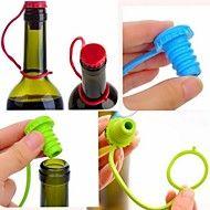keuken+anti-verloren+siliconen+hangende+knop+kruiden+bier+wijn+kurk+plug+dop+van+de+fles+deksel+(ramdon+kleur)+–+EUR+€+1.95