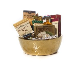 """A Time For Tea"" Basket  A Beautiful Ceramic Bowl with Treats for the Tea Lover. Crackers, Jams, Cookies, Chocolates and of course Tea.    For The Tea Lover  $45.00 CAD"