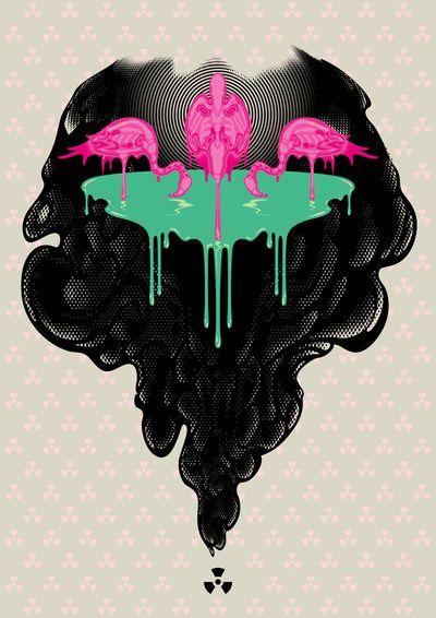 Neo Pollution Art Print