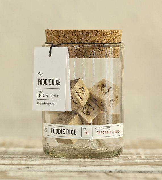 A fun new way to shake up your cooking routine, Foodie Dice™ is a set of 9 dice designed to inspire creative, whole-ingredients meals.  Even