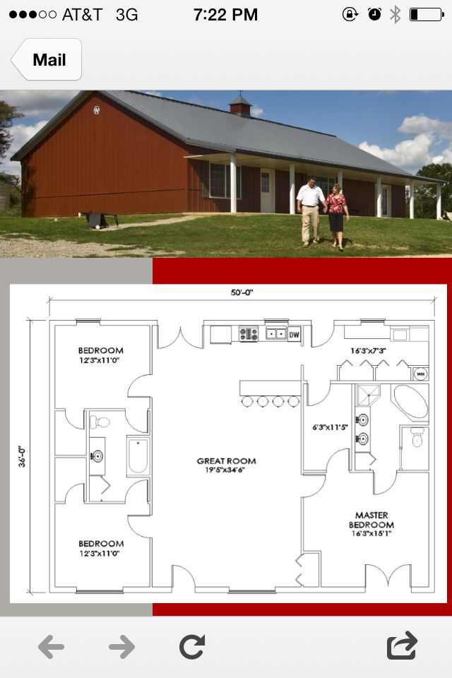 Morton house plan 1800 sq ft- loving the simplicity, bathroom entrance needs revised.
