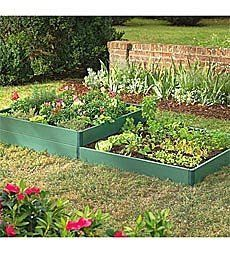 8' x 4' Two-Tier Raised Bed Kit by Problem Solvers. $149.95. 8' x 4' Two-Tier Raised Bed Kit. Made of maintenance-free, recycled plastic, our Raised Bed Kit has lightweight boards that lock together with ease - no tools required! - to form a sturdy border for your one- or two-tier raised bed. Double-skinned walls provide thermal insulation, which helps to maintain a stable growing temperature. Sizes Raised Bed Kit 4' x 4' Two-Tier Kit 8' x 4' 4' x 4' Raised Bed Kit...