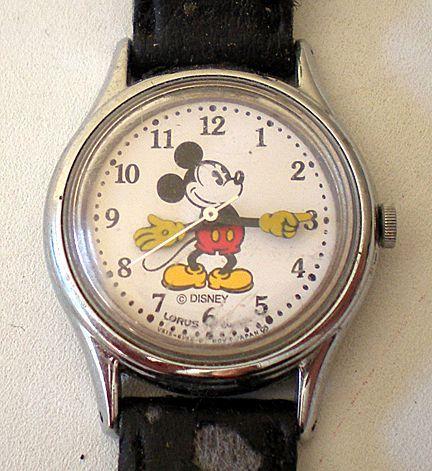 Lorus Mickey Mouse watch. A rocker friend got one. I am envious. :)