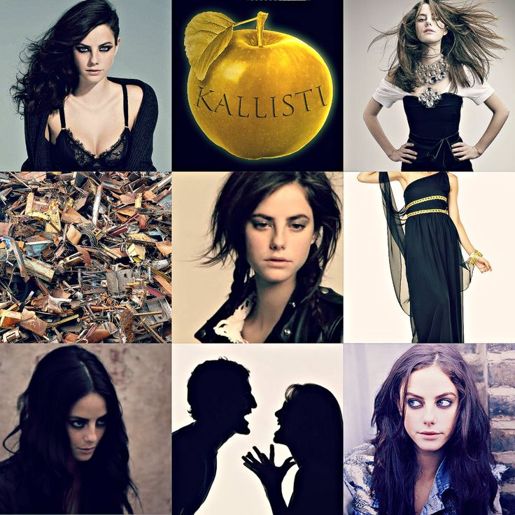 Kaya Scodelario as Eris, goddess of chaos, discord and strife. Opposite of Harmonia.