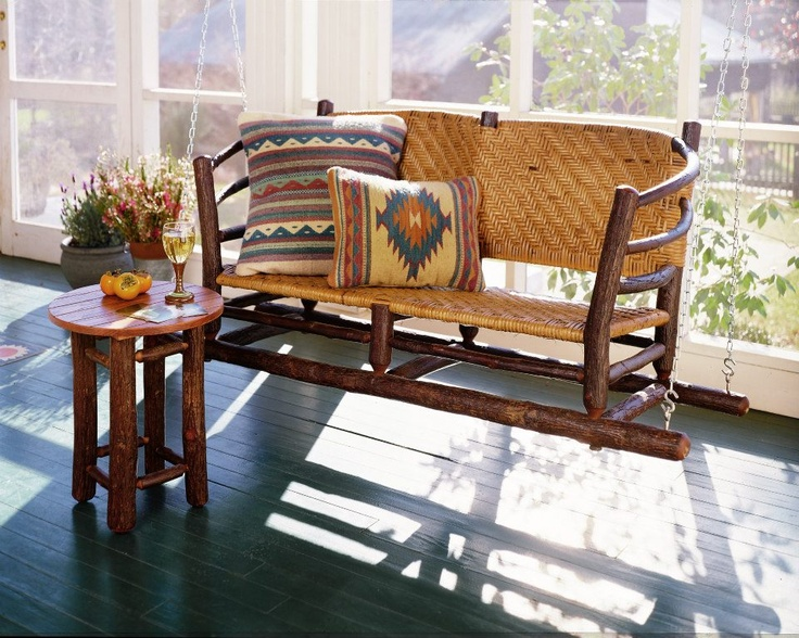 old hickory furniture porch swing available at the western home u0026 design center - Old Hickory Furniture