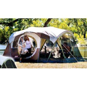 Coleman Weathermaster 10 Person 3 Room Tent With Screen