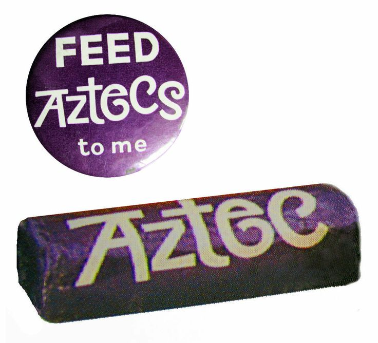 Aztec bars sold until 1968 - 1977