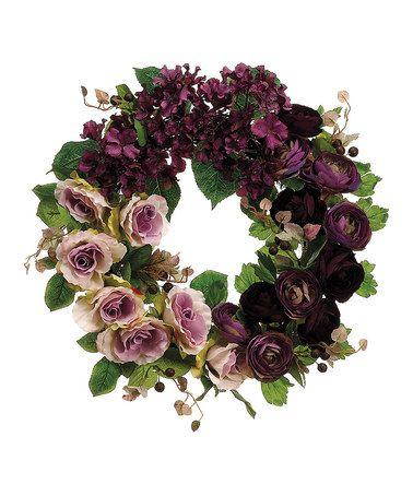 take a look at this rose ranunculus wreath by allstate