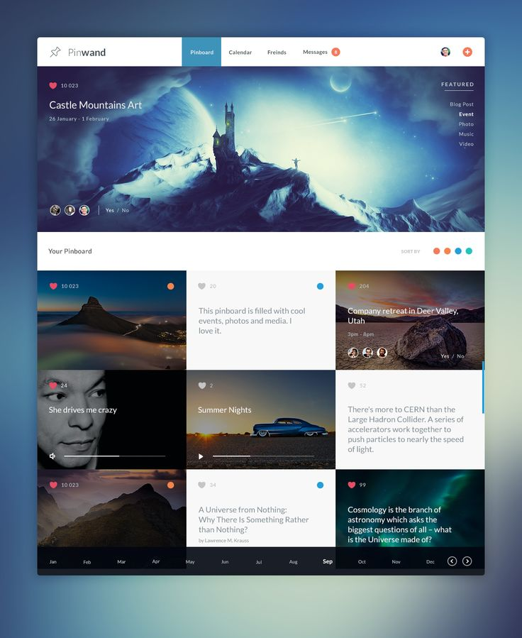 Dribbble - pinwand.png by Malte Westedt // Hi Friends, look what I just found on #web #design! Make sure to follow us @moirestudiosjkt to see more pins like this | Moire Studios is a thriving website and graphic design studio based in Jakarta, Indonesia.