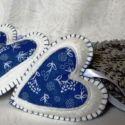 Levendulával töltött szívek dekoráció , Dekoráció, Magyar motívumokkal, Dísz, Levendulával töltöttem meg ezeket a szíveket. Anyaguk filc, el...