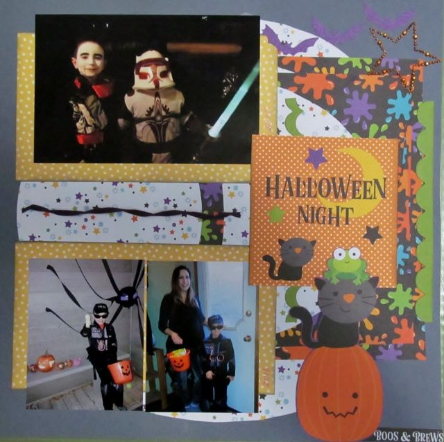 Scrappers' Cove Blog Spot: Halloween Night Scrapbook Page