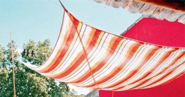 Ombrager la terrasse avec un velum - Marie Claire Maison